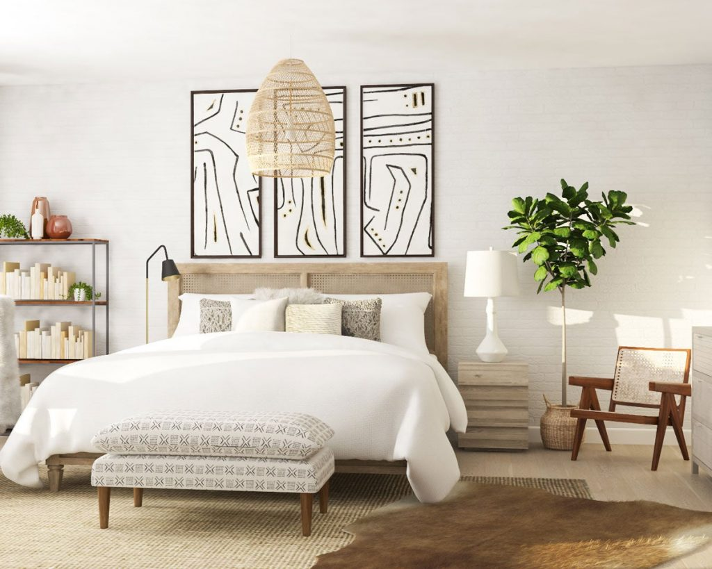 the bedroom according to Feng Shui principles.